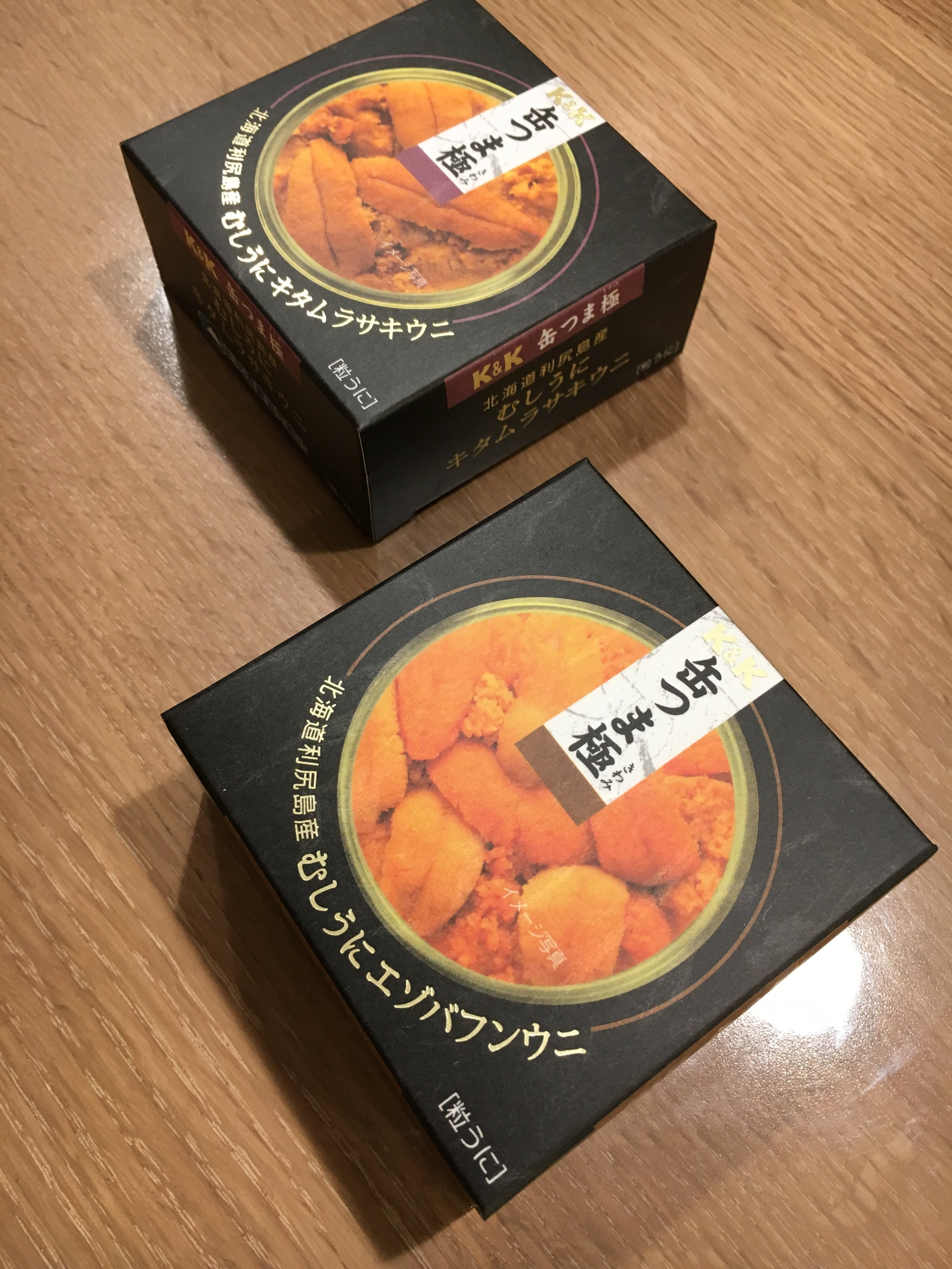 缶つま極 高額缶詰 エゾバフンウニとキタムラサキウニ比較してみました